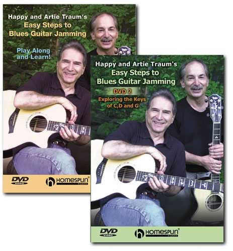 DVD - Happy and Artie Traum's Easy Steps to Blues Guitar Jamming: Two DVD Set