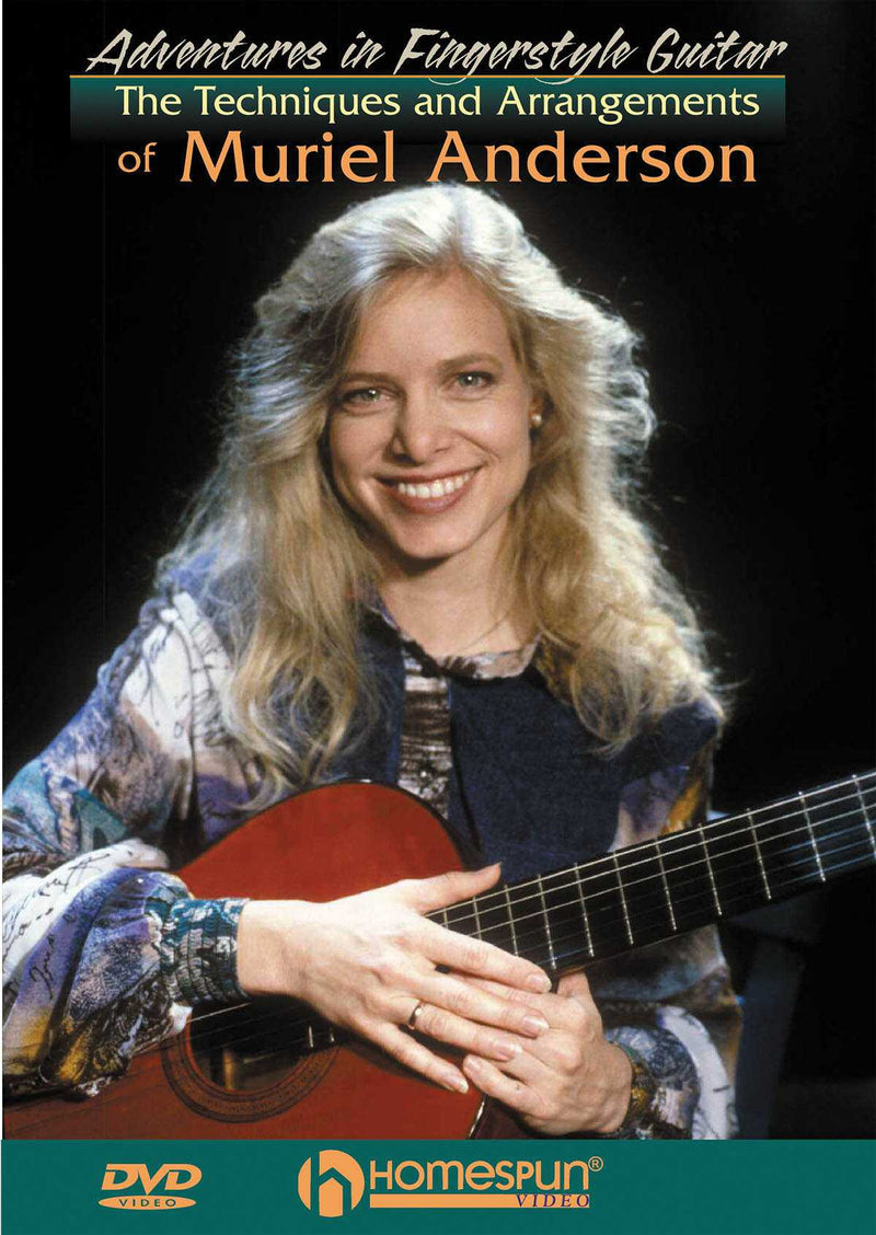 DVD - Adventures in Fingerstyle Guitar-The Techniques and Arrangements of Muriel Anderson