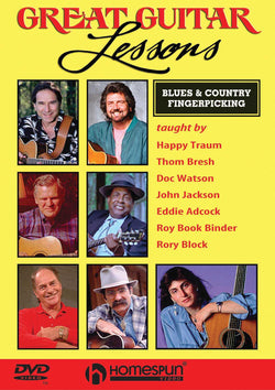 DVD - Great Guitar Lessons: Blues and Country Fingerpicking