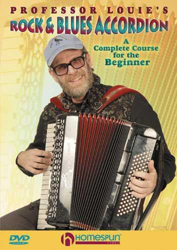 DVD - Professor Louie's Rock & Blues Accordion-A Complete Course for the Beginner