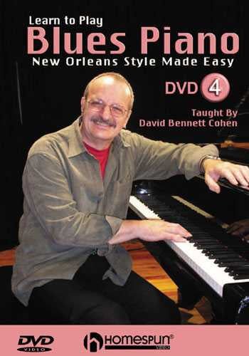 DVD - Learn to Play Blues Piano: Vol. 4 - New Orleans Style Made Easy