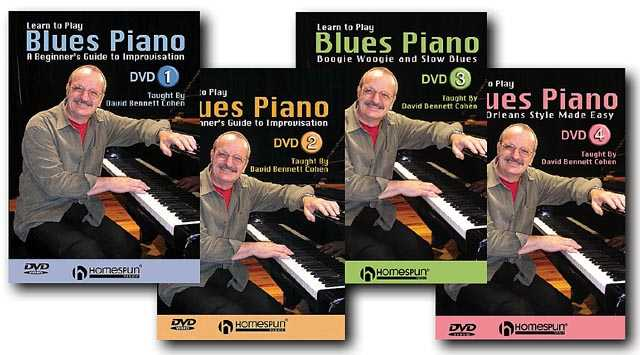 DVD - Learn to Play Blues Piano: Four DVD Set
