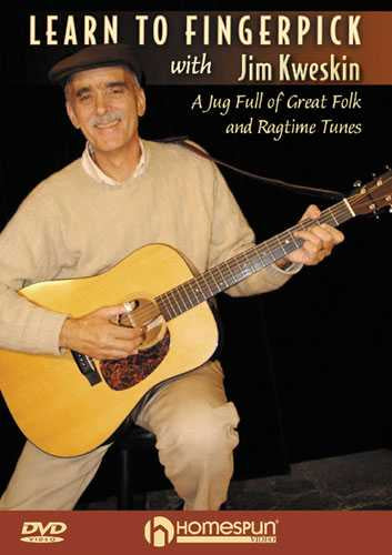 DVD - Learn to Fingerpick with Jim Kweskin-A Jug Full of Great Folk and Ragtime Tunes