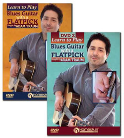 DVD - Learn to Play Blues Guitar with a Flatpick: Two DVD Set