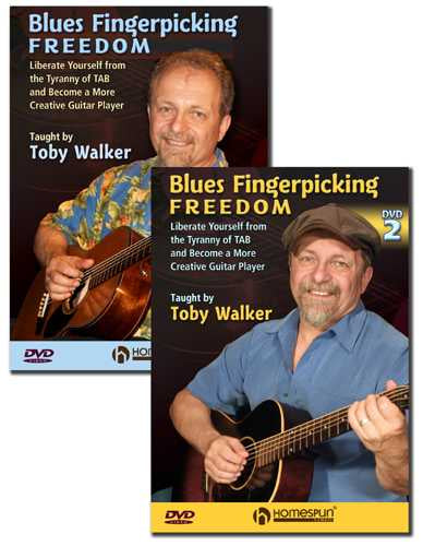 DVD - Blues Fingerpicking Freedom: Two DVD Set - Liberate Yourself From the Tyranny of Tab