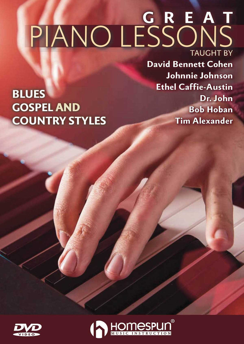 DVD - Great Piano Lessons - Blues, Gospel and Country Styles