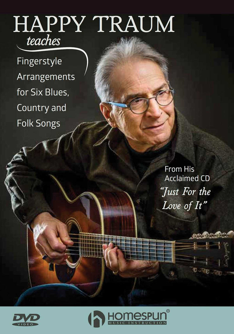 DVD - Happy Traum Teaches Fingerstyle Arrangements for Six Blues, Country and Folk Songs