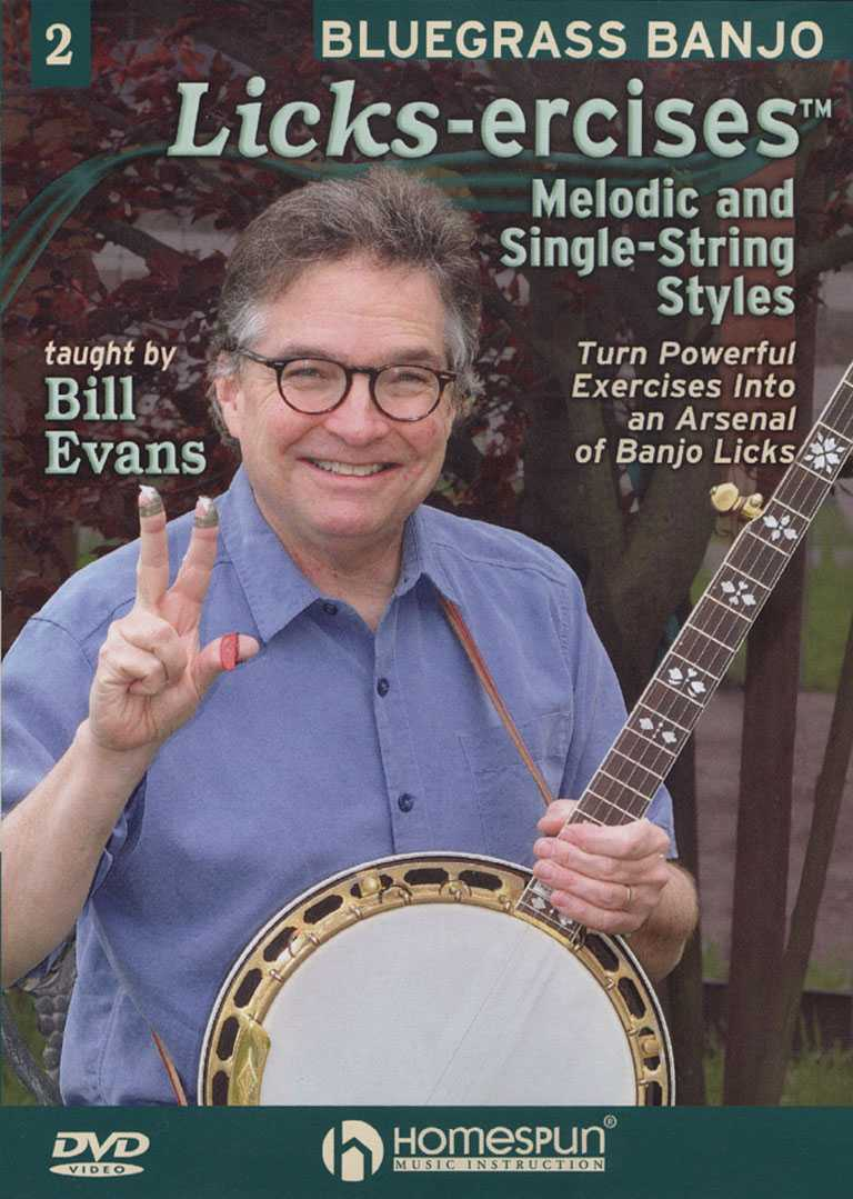 DVD - Bluegrass Banjo Licks-Ercises - Vol. 2: Melodic & Single-String Styles