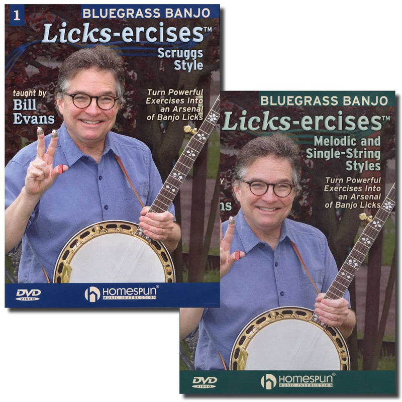 DVD - Bluegrass Banjo Licks-Ercises: Two DVD Set