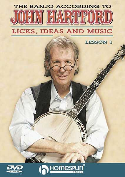 DVD-The Banjo According to John Hartford: Vol. 1 - Licks, Ideas, and Music