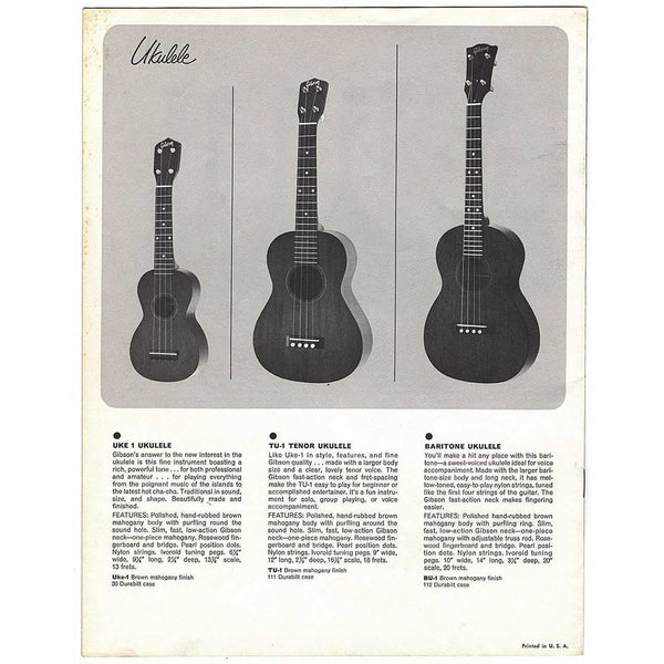 "Gibson ""Traditional"" Catalog Supplement (1964-65)"