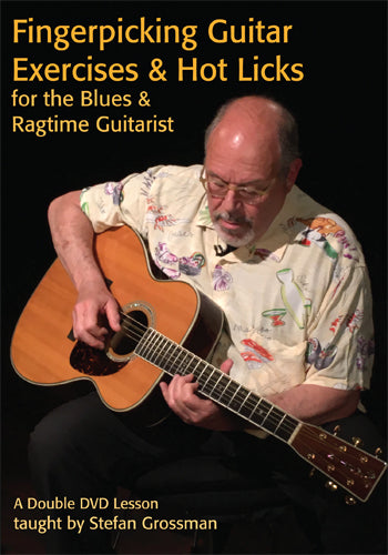 DVD - Fingerpicking Guitar Exercises & Hot Licks for the Blues and Ragtime Guitarist