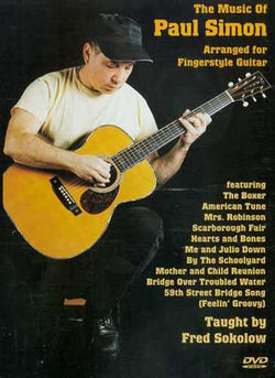 DVD-The Music of Paul Simon Arranged for Fingerstyle Guitar