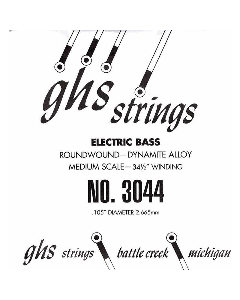 GHS Single Bass Boomers Medium Electric Bass Guitar String .105, Medium Scale
