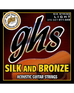 GHS 370 Silk & Bronze Light Gauge Acoustic Guitar Strings