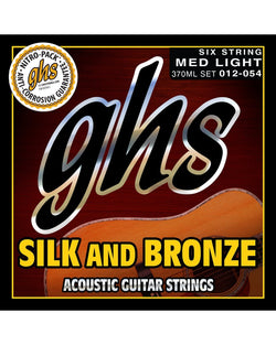 GHS 370ML Silk & Bronze Medium Light Gauge Acoustic Guitar Strings