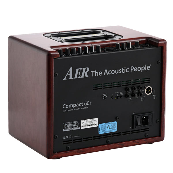 AER Compact 60/4 Acoustic Amplifier with Mahogany-Stained Oak Cabinet