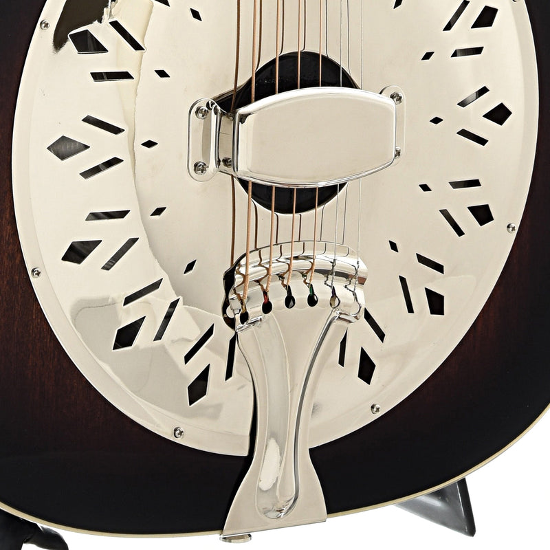 Recording King Rattlesnake Wood Body Roundneck Resonator Guitar