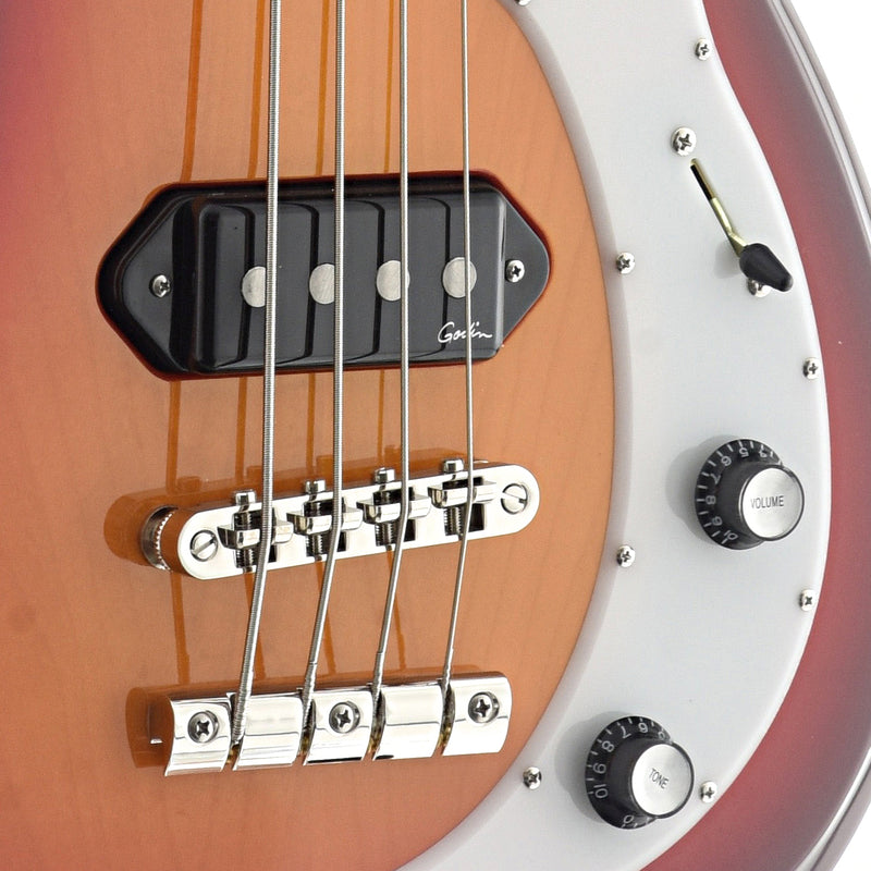 Godin Dorchester 4 String Solid Body Bass, Cherry Burst