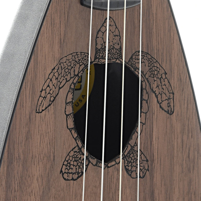Magic Fluke Company Fluke Ukulele, Tenor, Honu Turtle Design with Gigbag