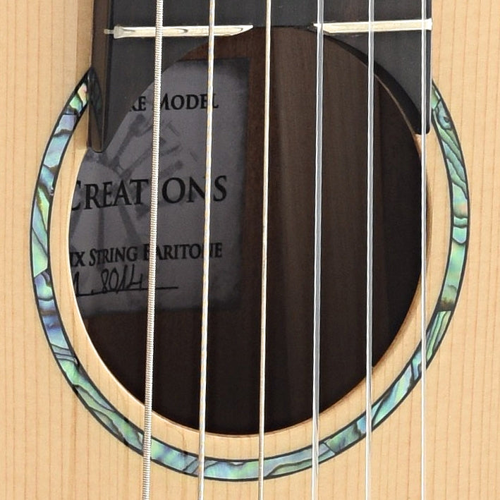 Romero Creations Baritone 6 String Signature Model Guitar/Uke with Case