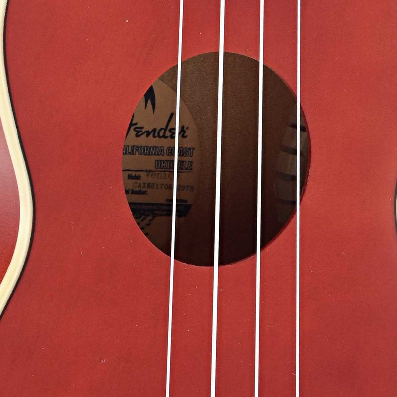 Fender Venice Soprano Ukulele, Cherry Finish