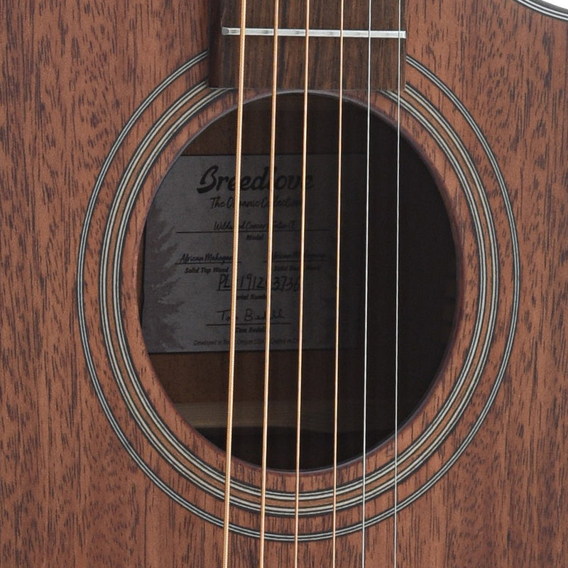 Breedlove Organic Wildwood Concert Satin CE African Mahogany - African Mahogany Acoustic-Electric Guitar