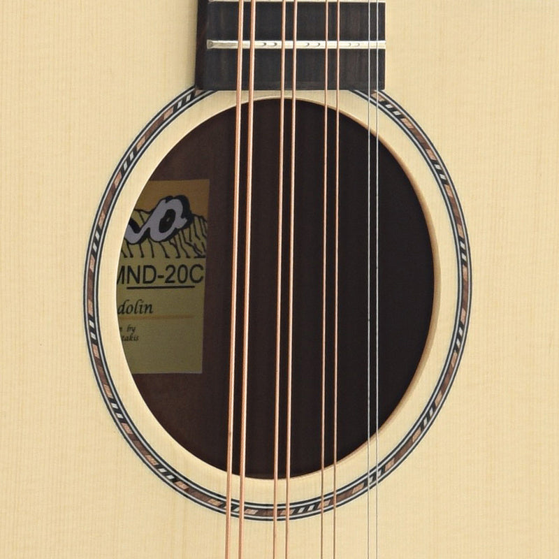 Pono MND-20C Flat-top Octave Mandolin, Deluxe Large Body Long Scale