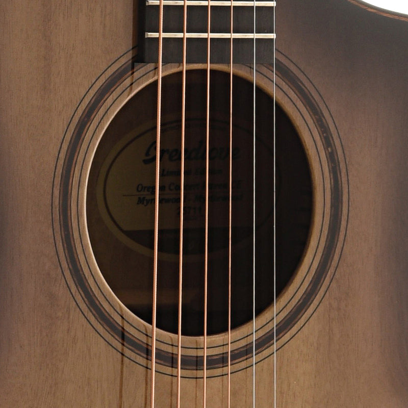 Breedlove Oregon Concert Raven CE Myrtlewood-Myrtlewood LTD Acoustic-Electric Guitar