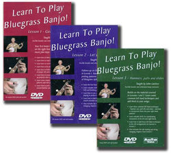 Learn to Play Bluegrass Banjo Lesson - 3 Volume Set