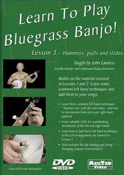 DVD - Learn to Play Bluegrass Banjo! Lesson 3 - Hammers, Pulls and Slides