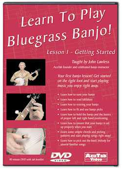 DVD - Learn to Play Bluegrass Banjo! Lesson One - Getting Started