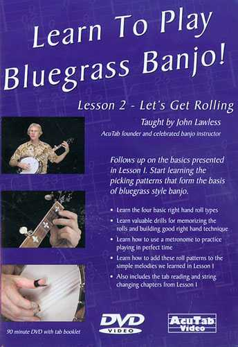 DVD - Learn to Play Bluegrass Banjo! Lesson 2 - Let's Get Rolling