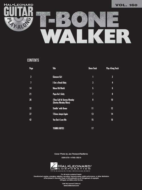 T-Bone Walker Guitar Play-Along, Vol. 160