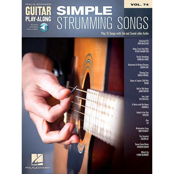 Simple Strumming Songs - Guitar Play-Along Vol. 74