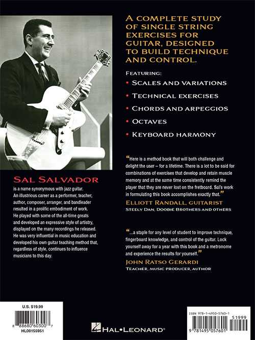 Sal Salvador's Single String Studies for Guitar - Updated Edition with Tab