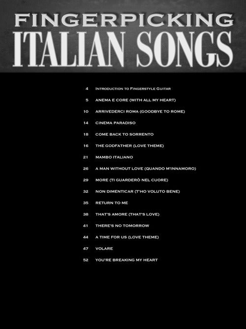 Fingerpicking Italian Songs