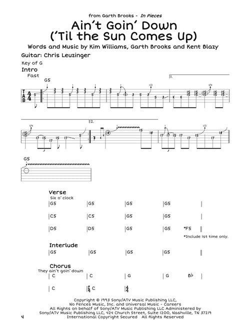 Bootleg Country Guitar Tabs - 100% Accurate – Elderly Instruments