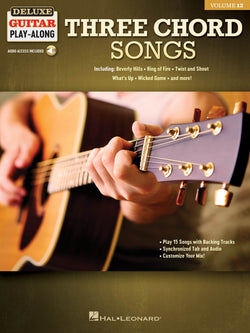 Three Chord Songs - Deluxe Guitar Play-Along Vol. 12