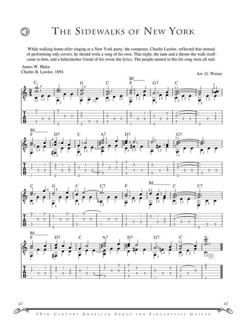 Favorite 19th Century American Songs for Fingerstyle Guitar