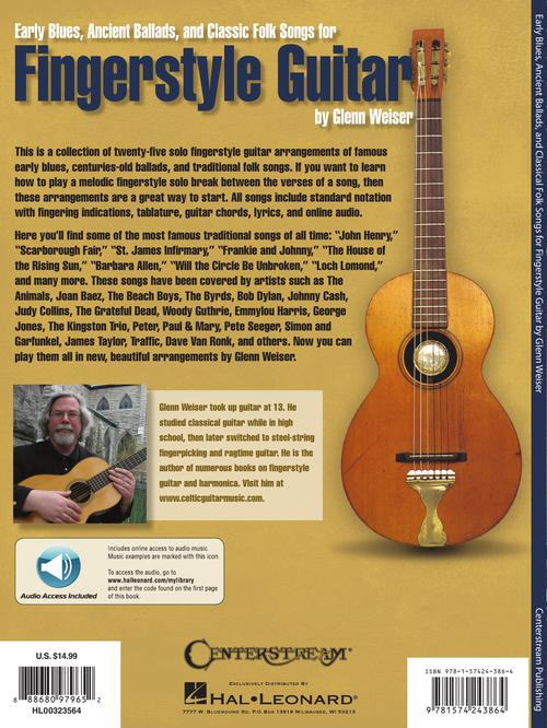 Early Blues, Ancient Ballads and Classic Folk Songs for Fingerstyle Guitar