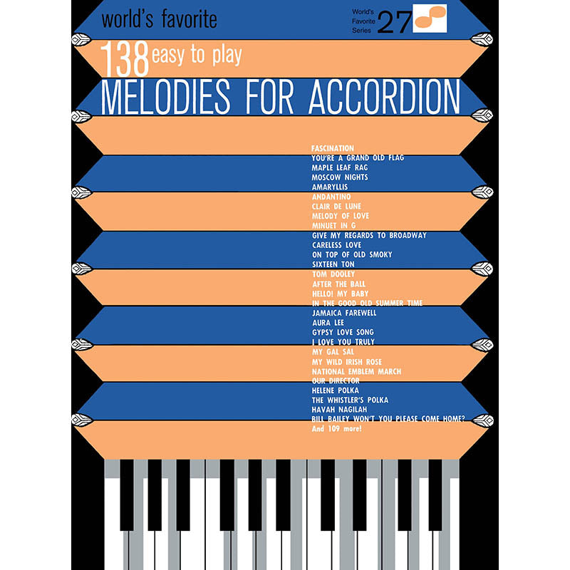 138 Easy to Play Melodies for Accordion