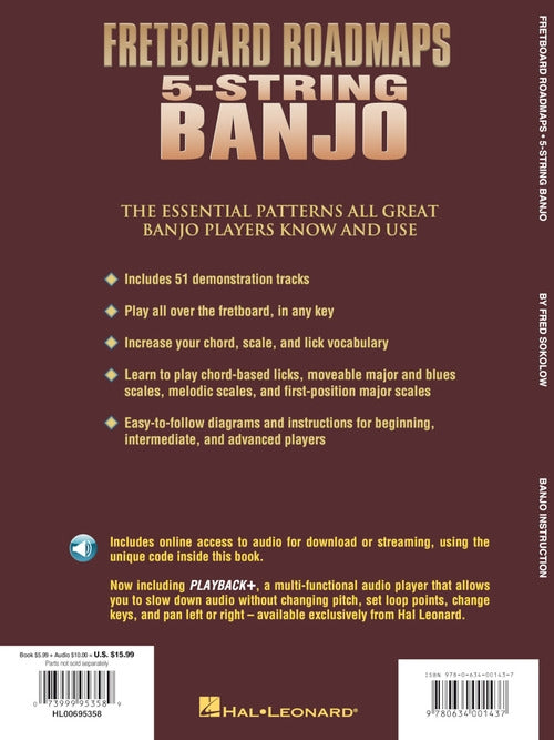 Fretboard Roadmaps: 5-String Banjo-The Essential Patterns That All the Pros Know and Use
