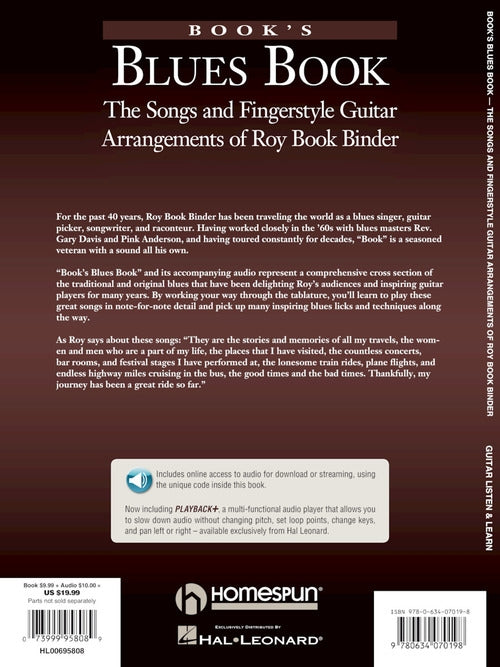 Book's Blues Book-The Songs and Fingerstyle Guitar Arrangements of Roy Book Binder