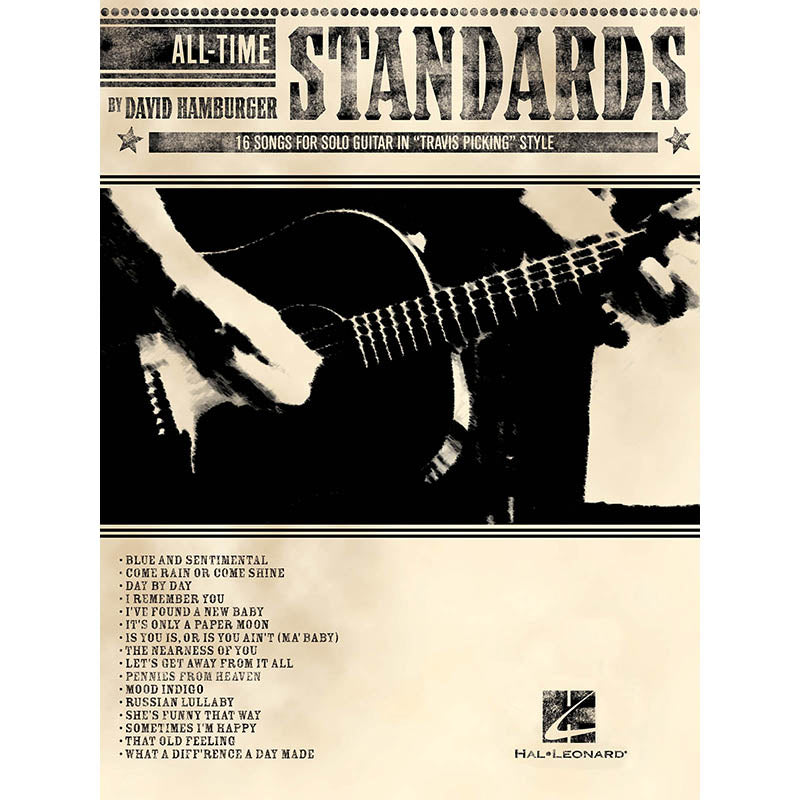 "All-Time Standards - 16 Songs for Solo Guitar in ""Travis Picking"" Style"