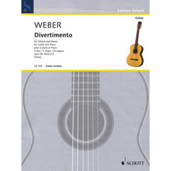 Weber - Divertimento for Guitar and Piano, Opus 38, Wev P. 13