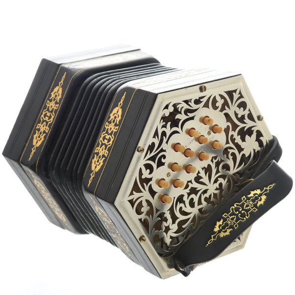 Jeffries Bb/F Anglo Concertina (c.1878-1891)