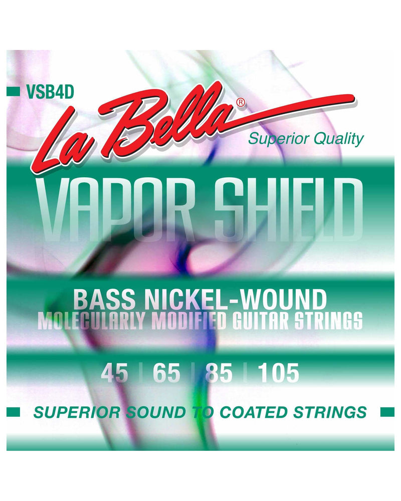 La Bella VSB4D Vapor Shield Nickel Plated Roundwound 4-String Electric Bass Strings
