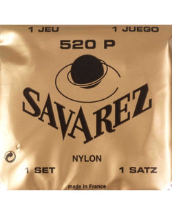 Savarez 520P Classical Guitar Strings, High Tension, Plastic Wound 2nd & 3rd