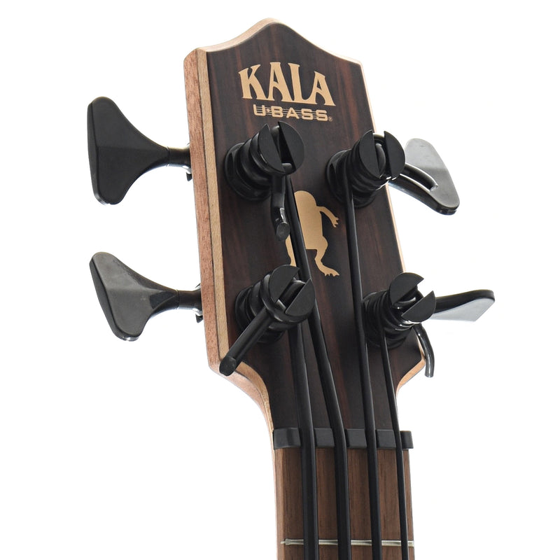 Kala U-Bass Striped Ebony Fretted Mini-Bass with Gigbag